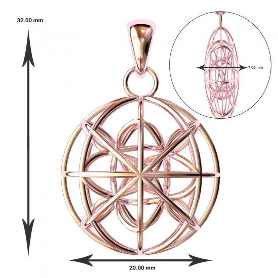 The Zulus Pink Gold Pendant