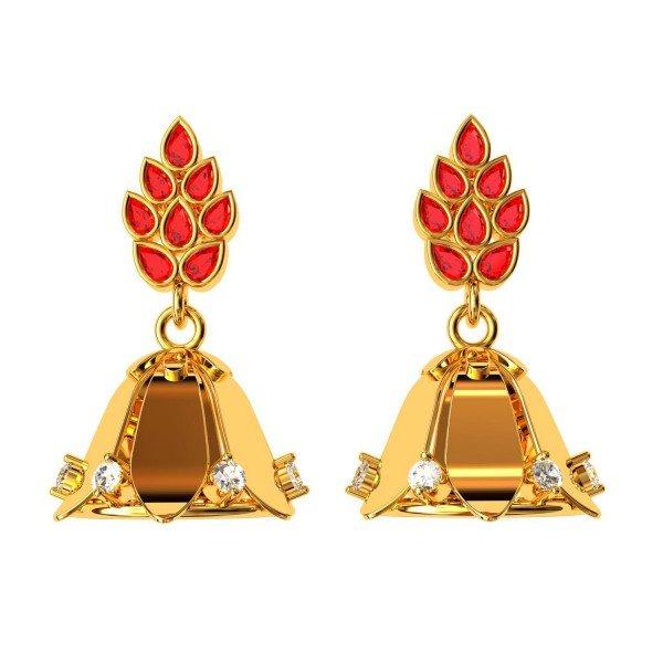 Ruby Jhumka Earrings