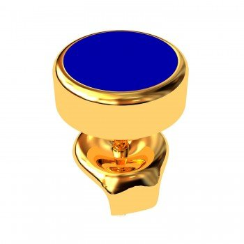 Mens Gold Round Earring