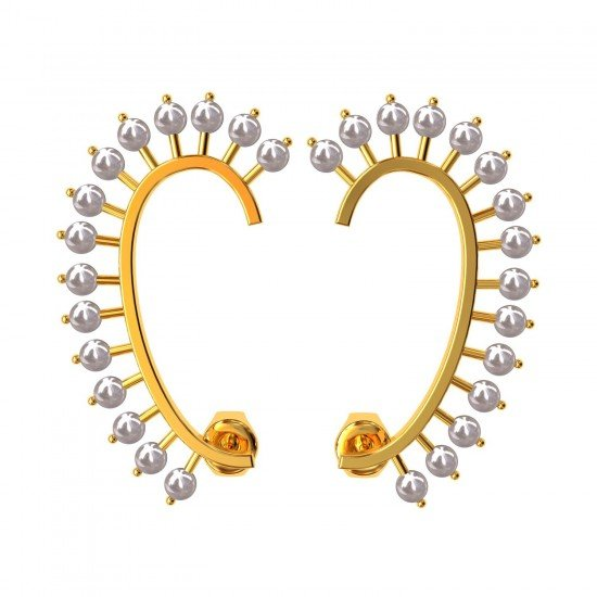 Full Ear Pearl Cuff Earring