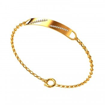 Men Rectangular Diamond Bracelet