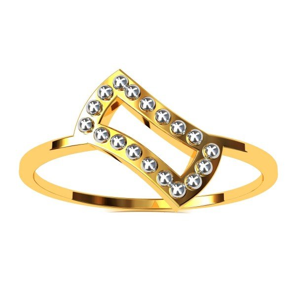 Gold Ball Promise Ring