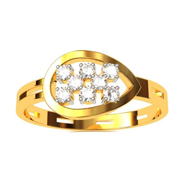 Pear Cluster American Diamond Ring