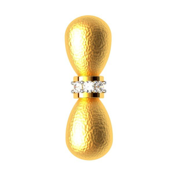 The Dumbbell Bee Gold Pendent