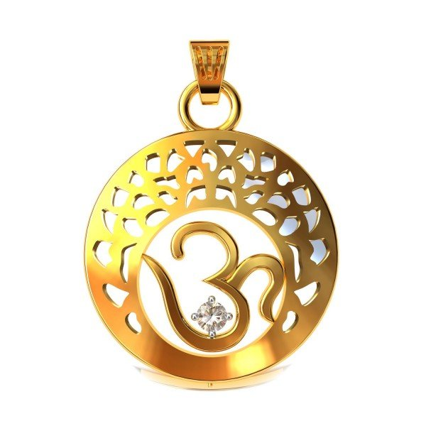 Om Gold Pendents