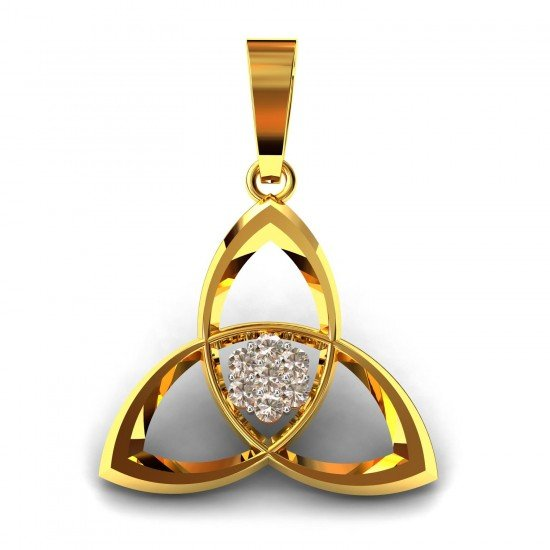 The American Diamond Orchid Pendent