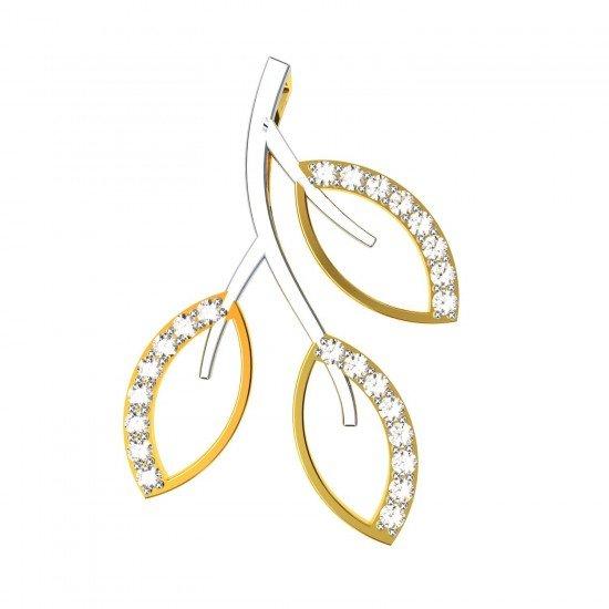Three Leaves American Diamond Pendant