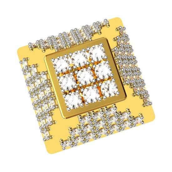 Square Earring Gold