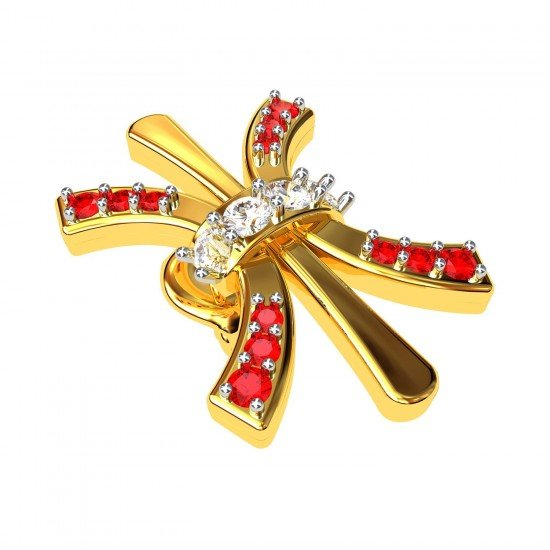 Ruby American Diamond Stud Earrings