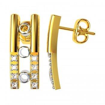 American Diamond Stud Hoop Earring