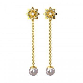 Changeable American Diamond Dangling Earring