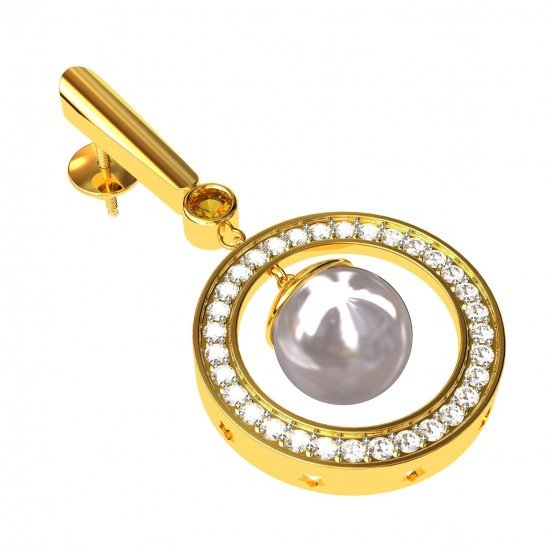 Unique Pearl Earring
