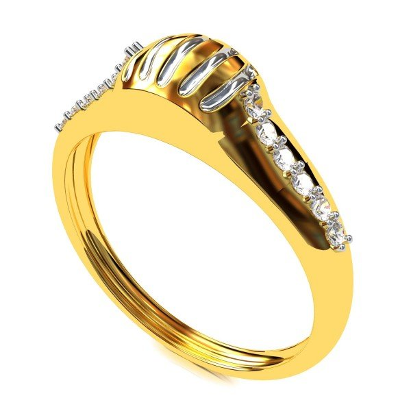 Abstract American Diamond Ring