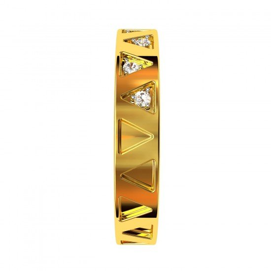 Gold Casual Band Ring