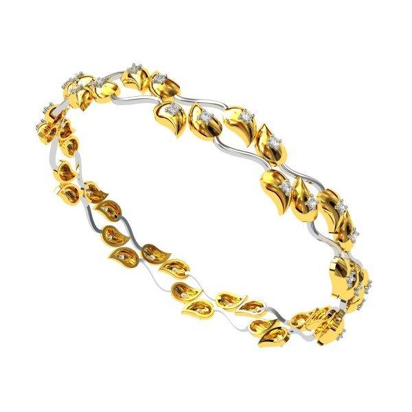 Leaves Diamond Bangle