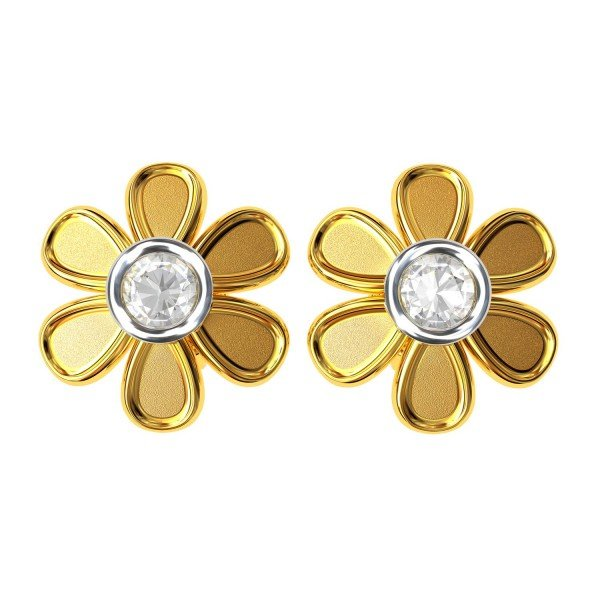 Gold American Diamond Earring