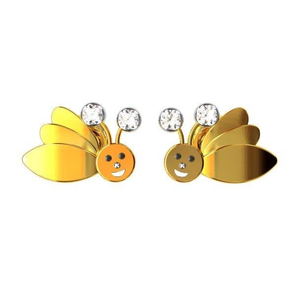 Smile Bee Earring