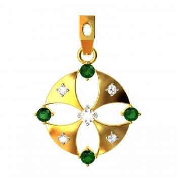 Emerald American Diamond Small Pendant