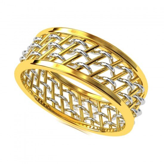 Thick Gold Band Rings