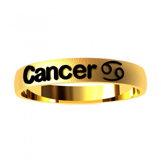 Cancer Zodiac Sign Ring