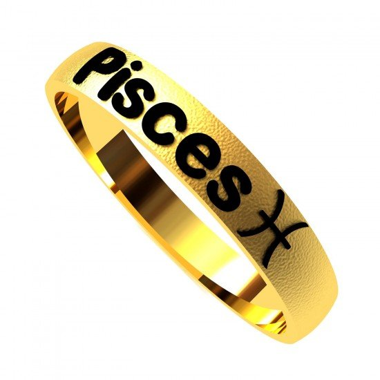 Pisces Zodiac Sign Ring