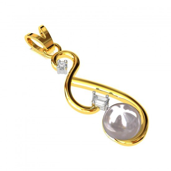 Pearl Pendant in Gold
