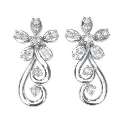 White Gold Women's Earrings