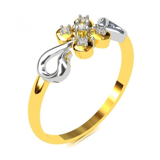 Gold and Diamond Wedding Ring