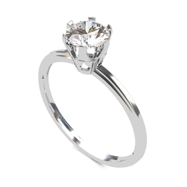 American Diamond Solitaire Ring Men and Women