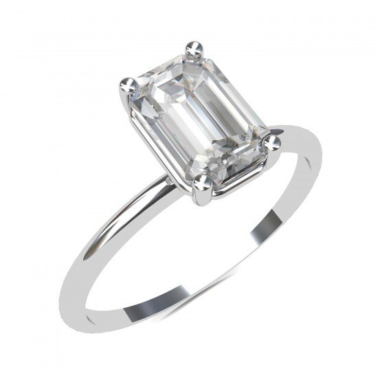 Emerald-Cut Solitaire Ring