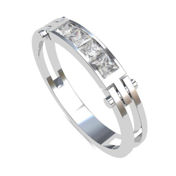 White Gold Ring Band