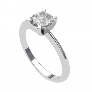 Infinity Solitaire Ring