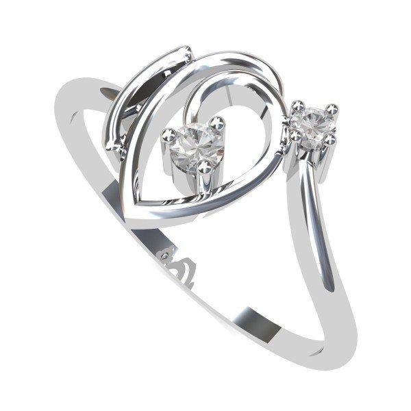 White Gold Ring for Girl