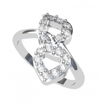 Double Heart Valentine Ring