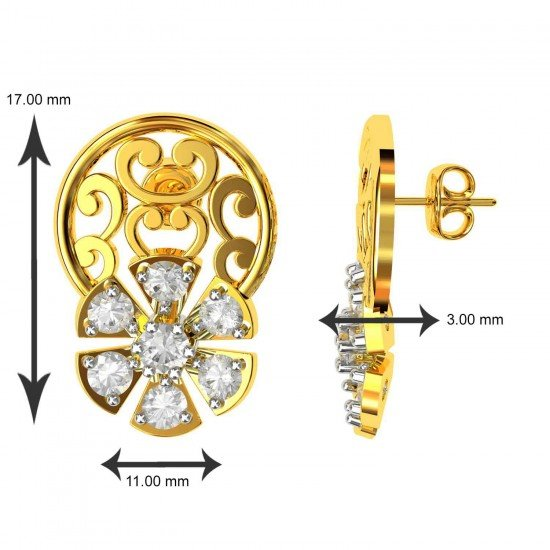 Small Stud Earrings Gold