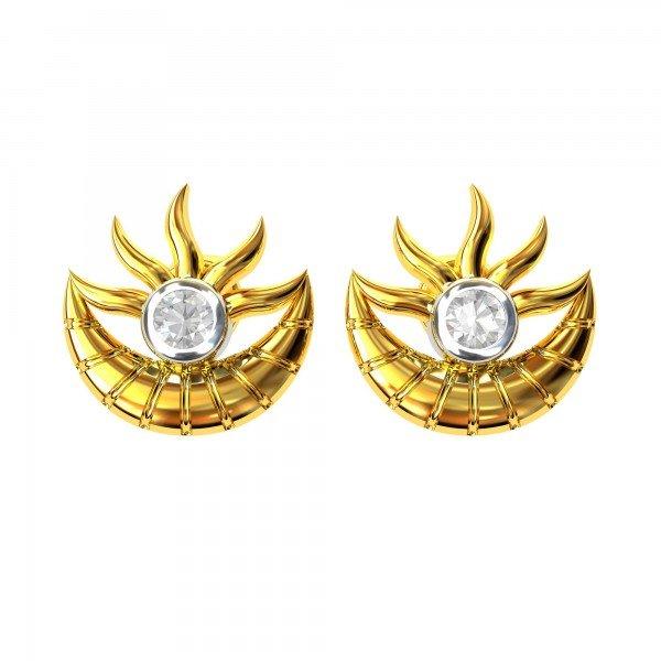 American Diamond Sun Earring