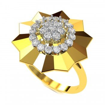 Cluster American Diamond Engagement Ring