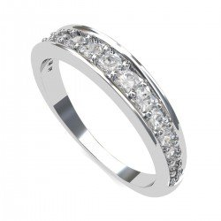 Unisex White Gold Band