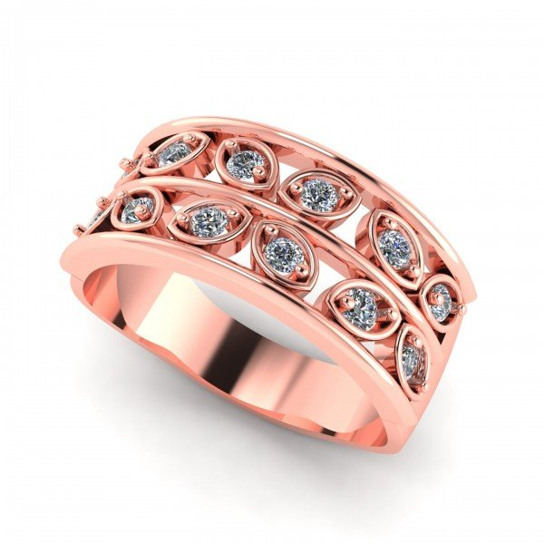 Rose Gold Ring American Diamond