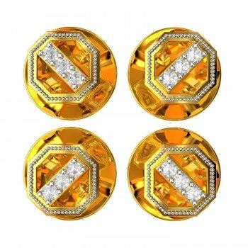 Three American Diamond Buttons