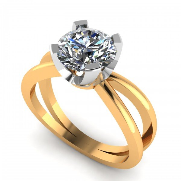 14K Hallmarked Yellow Gold Solitaire Ring