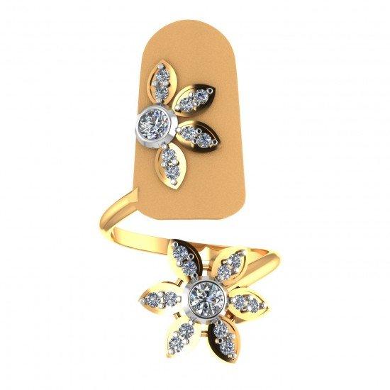 Yellow Gold Nail Ring