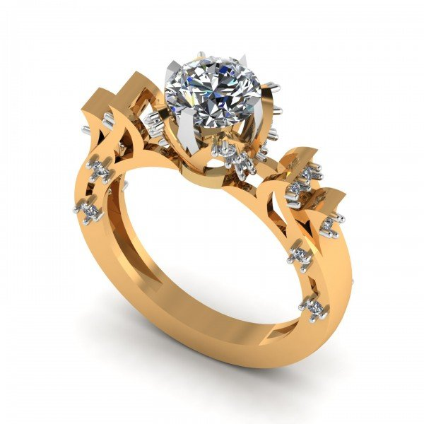 Preset Solitaire Ring