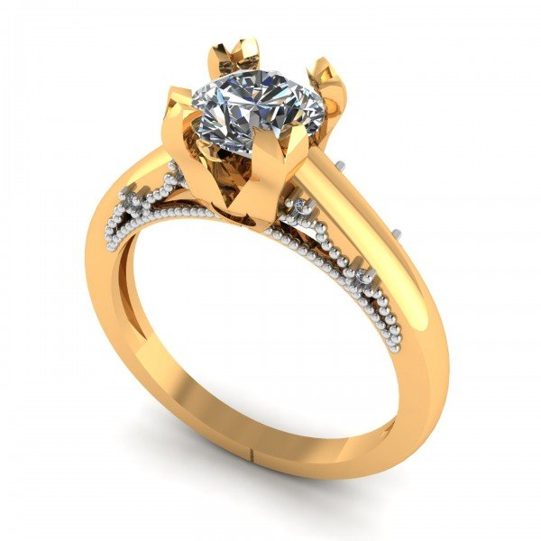 14K Gold Solitaire Rings