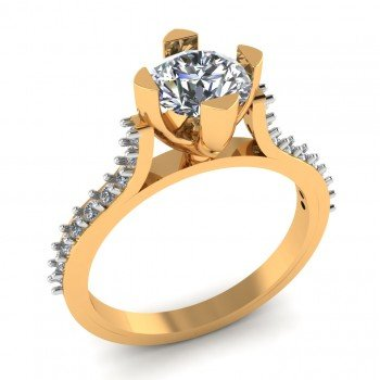 Lustre Solitaire Ring