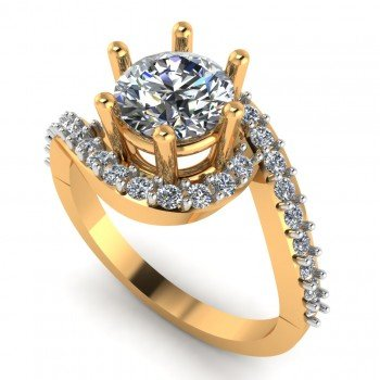 Cross Solitaire Ring