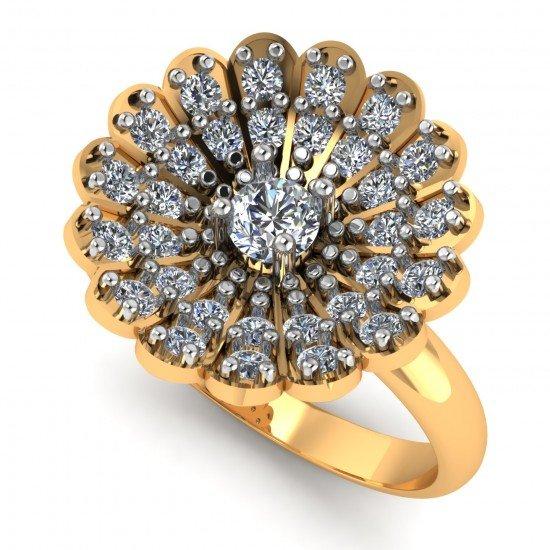 Floret Mesh Ring