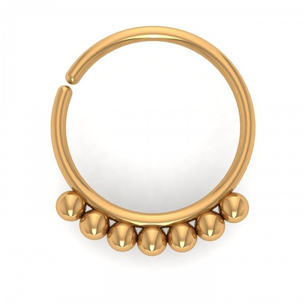 Yellow Gold Seamless Continuous Nose Hoop