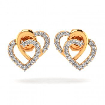 Double Heart Valentine Earring
