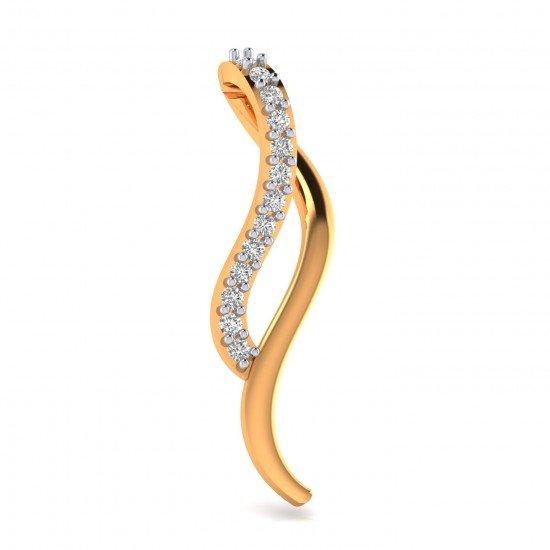 Stylish Girl Gold Pendant